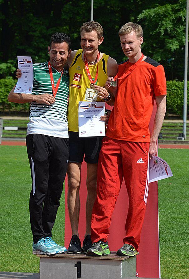 Siegerehrung 5000m Landesmeisterschaften Hamburg/SHS 2016